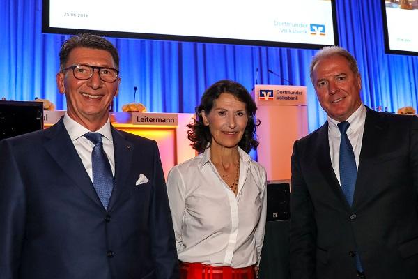 Vertreterversammlung Dortmunder Volksbank 2018 mit Dr. Antonia Rados