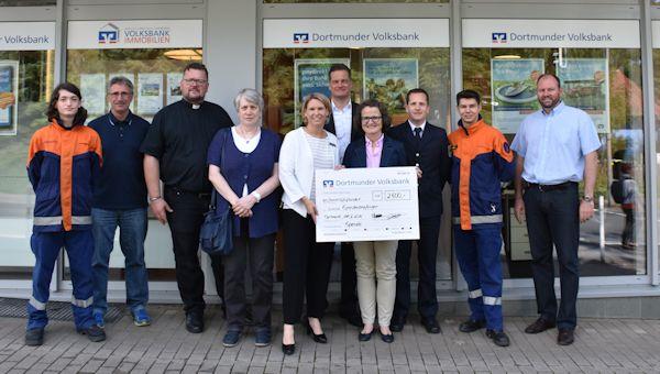 Unterstützung für den Stadtfeuerwehrverband Dortmund e.V., die Rudolf-Steiner-Schule e.V., den Ev. Philippus-Kindergarten, den FC Brünninghausen sowie die Kath. Kirchengemeinde Heilige Familie