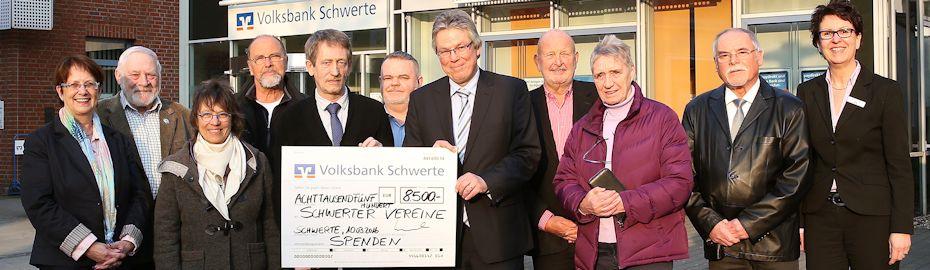 Spendenübergabe an 11 Vereine in Schwerte