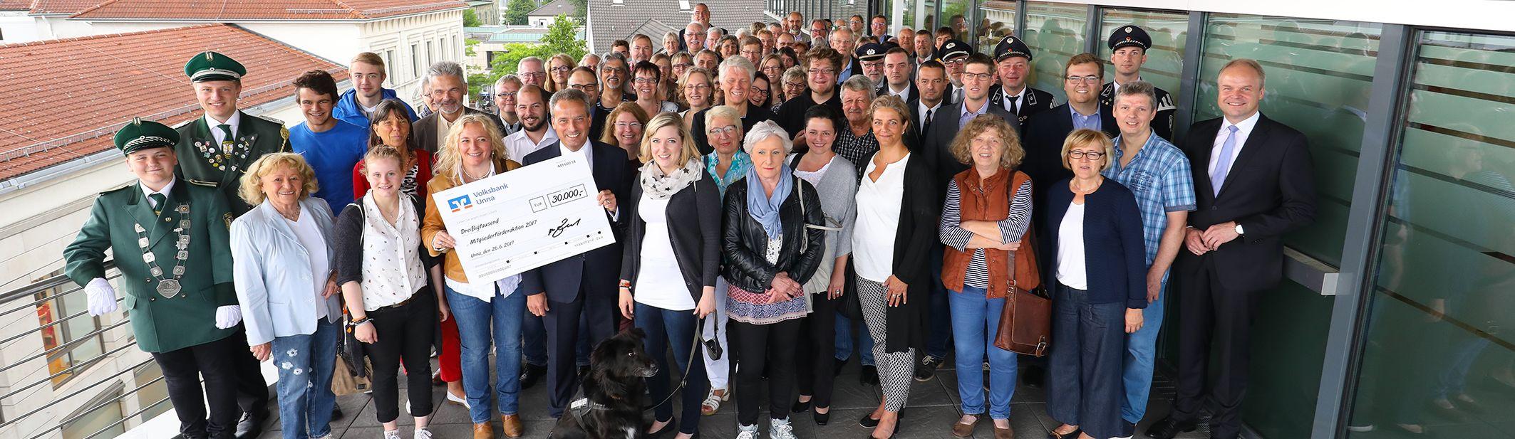 Spendenübergaben der Mitglieder-Förderaktion 2017 in Unna