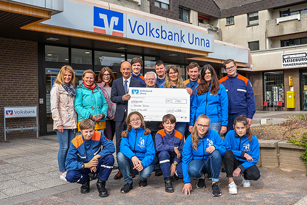 Volksbank-Filiale Heeren unterstützt vier gemeinnützige Projekte.